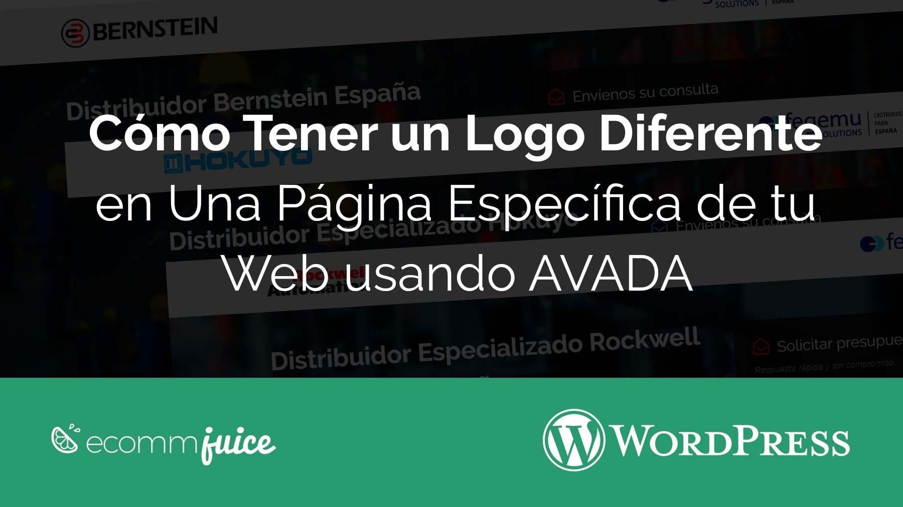 Cómo Tener un Logo Diferente en una Página Específica de tu Web con el Tema Avada
