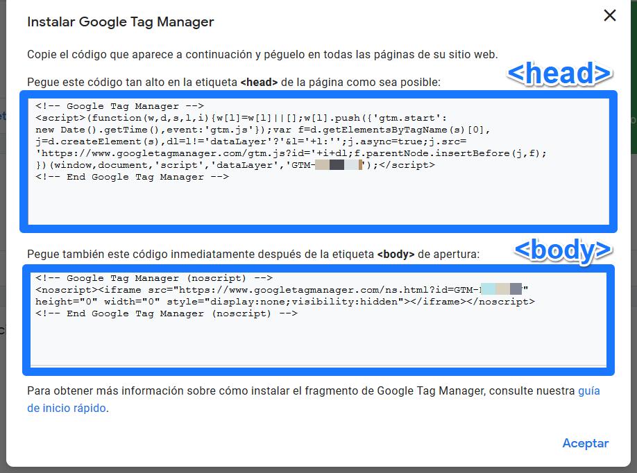 Instalar Google Tag Manager en PrestaShop Modificando la Plantilla