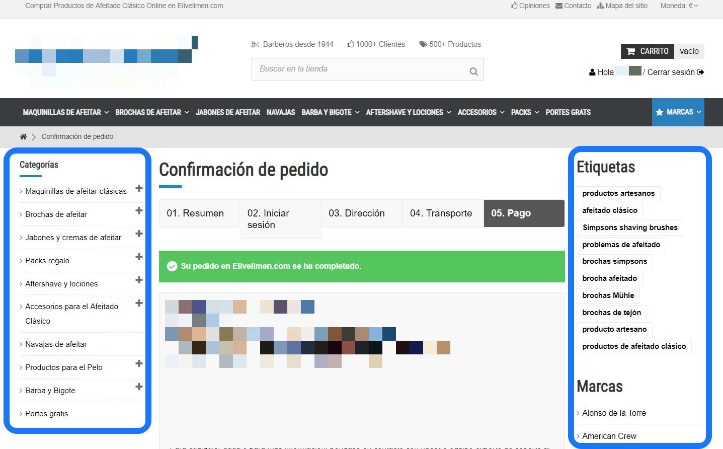Quitar Columnas de la Página de Confirmación de Pedido en PrestaShop