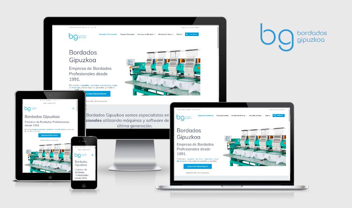 Bordados Gipuzkoa Diseño de Página Web